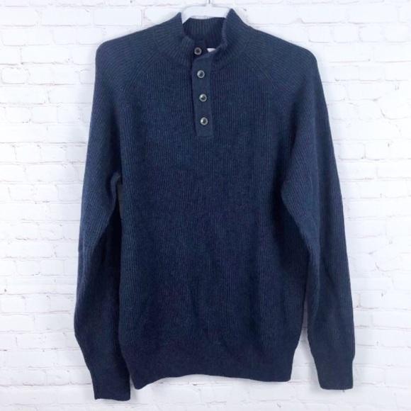 Peter Millar Sweaters Wool Cotton Rib Knit Henley Sweater Poshmark